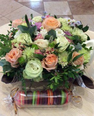 Цветы в коробке №32